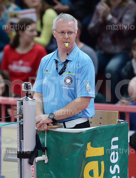 Volleyball 1. Bundesliga  Saison 2015/2016 TV Rottenburg -  Netzhoppers KW Bestensee          24.10.2015 Hauptschiedsrichter Joerg Kellenberger