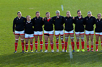 The Canada team lines up before the 2017 International Women's Rugby Series rugby match between England Roses and Canada at Rugby Park in Christchurch, New Zealand on Tuesday, 13 June 2017. Photo: Dave Lintott / lintottphoto.co.nz