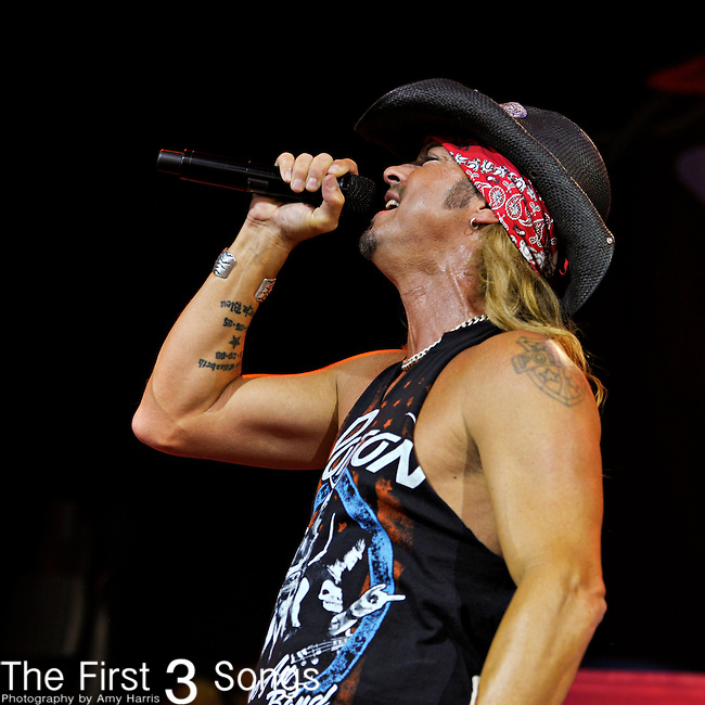Bret Michaels of Poison performs on July 2, 2012 at Riverbend Music Center in Cincinnati, Ohio.