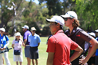 Min Woo Lee (AM) (AUS) in action on the 2nd during Round 3 of the ISPS Handa World Super 6 Perth at Lake Karrinyup Country Club on the Saturday 10th February 2018.<br /> Picture:  Thos Caffrey / www.golffile.ie<br /> <br /> All photo usage must carry mandatory copyright credit (&copy; Golffile | Thos Caffrey)