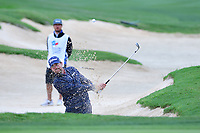 Bryce Molder (USA) hits from the trap on 13 during round 3 of the Valero Texas Open, AT&amp;T Oaks Course, TPC San Antonio, San Antonio, Texas, USA. 4/22/2017.<br /> Picture: Golffile | Ken Murray<br /> <br /> <br /> All photo usage must carry mandatory copyright credit (&copy; Golffile | Ken Murray)