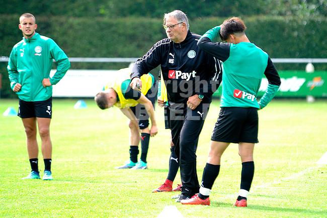 NORG - Voetbal, Trainingskamp FC Groningen, voorbereiding seizoen 2018-2019, 10-07-2018,  Assistent trainer Hennie Spijkerman