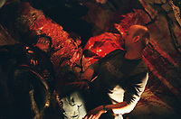 The Descent (2005) <br /> Behind the scenes photo of Nora-Jane Noone &amp; Neil Marshall<br /> *Filmstill - Editorial Use Only*<br /> CAP/KFS<br /> Image supplied by Capital Pictures