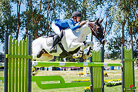 NZL-Megan Bradley rides My Dream Catcher. Class 24 Country TV Pony Premier Grand Prix. 2020 NZL-Collinson Forex Premier Show Jumping At Woodhill Sands. Helensville. Sunday 12 January. Copyright Photo: Libby Law Photography