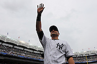 New York Yankees catcher Francisco Cervelli #17 during a game against the Baltimore Orioles at Yankee Stadium on September 5, 2011 in Bronx, NY.  Yankees defeated Orioles 11-10.  Tomasso DeRosa/Four Seam Images