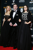 Kelly Preston, John Travolta and Ella Bleu Travolta attend a party in Honour of John Travolta's receipt of the Inaugural Variety Cinema Icon Award during the 71st annual Cannes Film Festival at Hotel du Cap-Eden-Roc on May 15, 2018 in Cap d'Antibes, France.<br /> CAP/GOL<br /> &copy;GOL/Capital Pictures /MediaPunch ***NORTH AND SOUTH AMERICAS ONLY***