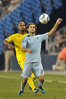 Graham Zusi (8) midfielder Sporting KC in action... Sporting Kansas City defeated Columbus Crew 2-1 at LIVESTRONG Sporting Park, Kansas City, Kansas.