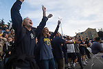 BERKELEY, CA - DECEMBER 04:  Fans from the University of California at Berkeley cheer during the Division I Men's Water Polo Championship held at the Spieker Aquatics Complex on December 04, 2016 in Berkeley, California.  Cal defeated USC 11-8 for the national title. (Photo by Justin Tafoya/NCAA Photos via Getty Images)