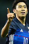 Shinji Kagawa (JPN),<br /> MARCH 29, 2016 - Football / Soccer :<br /> Shinji Kagawa of Japan celebrates after scoring his team's fourth goal during the FIFA World Cup Russia 2018 Asian Qualifier Second Round Group E match between Japan 5-0 Syria at Saitama Stadium 2002 in Saitama, Japan. (Photo by Kenzaburo Matsuoka/AFLO)