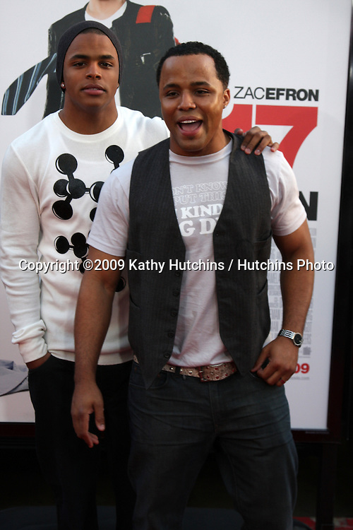 Christopher Warren Jr & Father Christopher ONeal Warren arriving at the 17 Again Premiere at Grauman's Chinese Theater in Los Angeles, CA on April 14, 2009.©2009 Kathy Hutchins / Hutchins Photo....                .