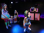 Leah Lane, Hui-Shan Yong and cast during The Dare Tactic production of 'A Roller Rink Temptation' at  WOW Cafe on May 25, 2018 in New York City.