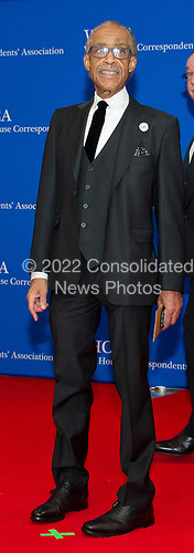Reverend Al Sharpton arrives for the 2017 White House Correspondents Association Annual Dinner at the Washington Hilton Hotel on Saturday, April 29, 2017.<br /> Credit: Ron Sachs / CNP