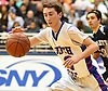 Ryan Prendergast #12 of South Side takes a pass during the Nassau County varsity boys basketball Class A semifinals against Hewlett at Hofstra University in Hempstead, NY on Wednesday, March 1, 2017. South Side won by a score of 58-46.
