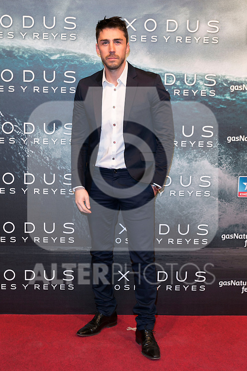 "Ruben Sanz attend the Premiere of the movie ""EXODUS: GODS AND KINGS"" at callao Cinema in Madrid, Spain. December 4, 2014. (ALTERPHOTOS/Carlos Dafonte)"