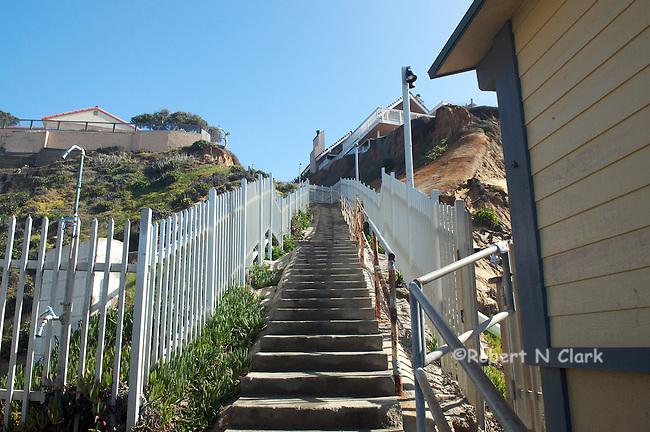 Stairs from the beach, Solana Beach