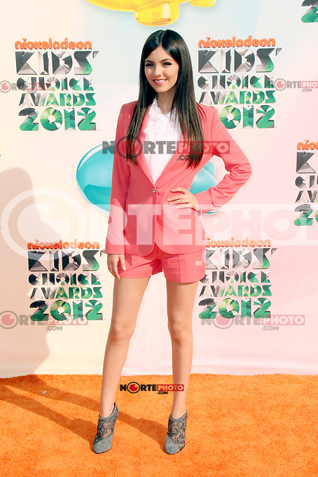 Victoria Justice at Nickelodeon's 25th Annual Kids' Choice Awards at The Galen Center on March 31, 2012 in Los Angeles, California. © mpi26/MediaPunch Inc.