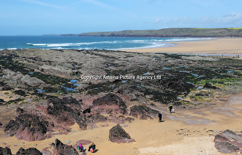 """COPY BY TOM BEDFORD<br /> Pictured: Freshwater West beach in Pembrokeshire, Wales, UK. STOCK PICTURE<br /> Re: A dog was hailed a hero for rescuing a holidaymaker's false leg when it was swept into the sea.<br /> The wire-haired German pointer called Gertie dived into the waves and came back with the prosthetic limb.<br /> Gertie and her owner John Dooner, 71, were on a beach when the woman's leg floated away after removing it to sunbathe.<br /> John threw a stone towards the plastic leg and 18-month-old Gertie loves a game of fetch.<br /> Artist John said: """"She saw the splash and dived into the water - it's her favourite game.<br /> """"She came back with the only thing that was floating - the woman's leg.<br /> """"The woman was delighted to get it back and Gertie is getting a big bone as a reward.""""<br /> The holidaymaker, in her late sixties, was sunbathing at Freshwater West, Pembrokeshire, when Gertie sprang into action."""