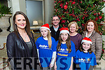 Killarney singer Grace Foley who will be holding a concert in aid of Aware in the Church of the Ressurection Killarney on Sunday l-r: Jemma Walsh, Fr Niall Howard, Amy Evans, Delorse Gallagher, Siun O'Connor, and Tracy Eager