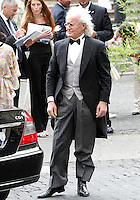 L'industriale Luciano Benetton arriva al matrimonio tra la modella Elisabetta Gregoraci ed il team manager della Renault Formula Uno Flavio Briatore  alla Chiesa di Santo Spirito in Sassia, Roma, 14 giugno 2008..Italian enterpreneur Luciano Benetton arrives for the wedding ceremony between top model Elisabetta Gregoraci and Renault F1 boss Flavio Briatore at St. Spirito in Sassia's church in Rome, 14 june 2008..UPDATE IMAGES PRESS/Riccardo De Luca