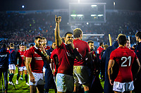 Ben Te'o waves to fans after during the 2017 DHL Lions Series rugby union match between the NZ Provincial Barbarians and British & Irish Lions at Toll Stadium in Whangarei, New Zealand on Saturday, 3 June 2017. Photo: Dave Lintott / lintottphoto.co.nz