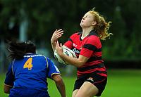 Canterbury v Otago Women on day one of the 2018 Bayleys National Sevens at Rotorua International Stadium in Rotorua, New Zealand on Saturday, 13 January 2018. Photo: Dave Lintott / lintottphoto.co.nz