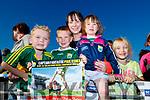 Odhran Moynihan (Camp), Matt Moynihan, Ciara Scanlon and Lottie Moynihan (Kilcummin) with Sadhbh Moynihan (Camp), pictured at the Kerry Minor home coming at Kilcummin GAA pitch on Monday night last.