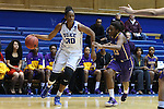 20 March 2015: Duke's Amber Henson (30) and Albany's Zakiya Saunders (23). The Duke University Blue Devils hosted the University at Albany Great Danes at Cameron Indoor Stadium in Durham, North Carolina in a 2014-15 NCAA Division I Women's Basketball Tournament first round game.