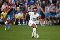 Kansas City, MO - Saturday May 28, 2016: FC Kansas City midfielder Desiree Scott (3). FC Kansas City defeated Orlando Pride 2-0 during a regular season National Women's Soccer League (NWSL) match at Swope Soccer Village.