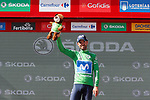 Alejandro Valverde (ESP) Movistar Team retakes the points Green Jersey at the end of Stage 7 of the La Vuelta 2018, running 185.7km from Puerto Lumbreras to Pozo Alc&oacute;n, Spain. 31st August 2018.<br /> Picture: Unipublic/Photogomezsport | Cyclefile<br /> <br /> <br /> All photos usage must carry mandatory copyright credit (&copy; Cyclefile | Unipublic/Photogomezsport)