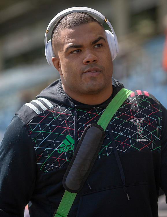 Harlequins' Kyle Sinckler arrives at the ground<br /> <br /> Photographer Bob Bradford/CameraSport<br /> <br /> Gallagher Premiership - Exeter Chiefs v Harlequins - Saturday 27th April 2019 - Sandy Park - Exeter<br /> <br /> World Copyright © 2019 CameraSport. All rights reserved. 43 Linden Ave. Countesthorpe. Leicester. England. LE8 5PG - Tel: +44 (0) 116 277 4147 - admin@camerasport.com - www.camerasport.com