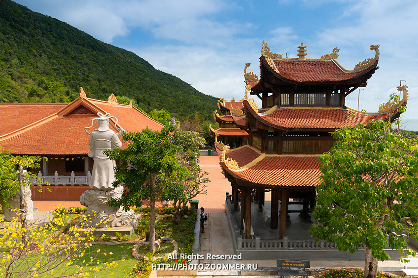 Beautiful Buddhist Pagoda In Ho Quoc Temple in Phuquoc, Vietnam