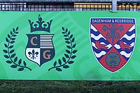 Dagenham & Redbridge and Chigwell Construction crests during Dagenham & Redbridge vs Stockport County, Vanarama National League Football at the Chigwell Construction Stadium on 8th February 2020