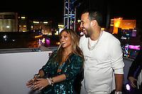 LAS VEGAS, NEVADA - JULY 24, 2016 JLO & French Montana attend the JLO private birthday celebration at The Nobu Villa Suite at Caesars Palace, July 24, 2016 in Las Vegas Nevada. Photo Credit: Walik Goshorn / Mediapunch