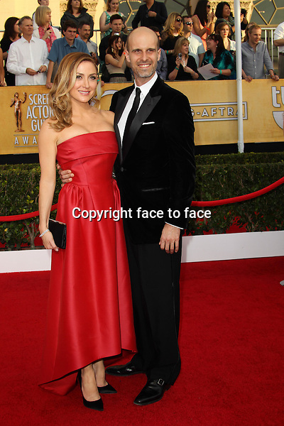 LOS ANGELES, CA - JANUARY 18: Edoardo Ponti, Sasha Alexander attending the 2014 SAG Awards in Los Angeles, California on January 18, 2014.<br /> Credit: RTNUPA/MediaPunch<br />