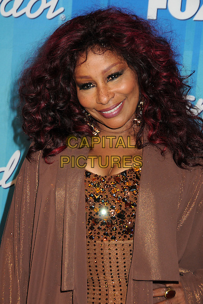 Chaka Khan.American Idol Season 11 Finale - Press Room held at Nokia Theatre LA Live, Los Angeles, California, USA..May 23rd, 2012.half length brown dress jacket sequins sequined .CAP/ADM/BP.©Byron Purvis/AdMedia/Capital Pictures.