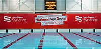 Picture by Allan McKenzie/SWpix.com - 25/11/2017 - Swimming - Swim England Synchronised Swimming National Age Group Championships 2017 - GL1 Leisure Centre, Gloucester, England - Swim England National Age Group Championships, branding.