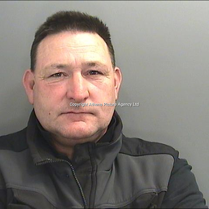 Pictured: Police custody picture of David McAllister<br /> Re:  Rogue builder David McAllsiter who defrauded elderly and vulnerable victims, has been jailed by Cardiff Crown Court, Wales, UK.<br /> The 51 year old from Cardiff attempted to defraud a total of £39,950 from three victims over a six month period, the court heard.<br /> He initially targeted a couple with memory issues in their 80s between December 2016 and January 2017 who paid him £18,850 for work to be carried out on their roof.<br /> But, it was later found by an independent surveyor the only work that was carried out was pressure washing of their drive at a value of £300.<br /> In June 2017, an elderly man who lived alone, paid McAllister £4,250 for painting work to the front of his property. The value of the work carried out was a mere £700 according to an independent surveyor.<br /> The third victim, who was 79 and lived alone suffering with mobility and other health issues was cold called by McAllister, who claimed work was needed to her roof. The initial price for the work was estimated by McAllister at £8,500 but this soon doubled in value to £16,050. On the day the payment was due to be collected, he was arrested near the victim's home.<br /> In each instance, David McAllister used a false name and the court heard he had previous convictions for fraud, making false representation and theft.