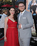 Seth Rogen and wife attends The Universal Pictures' World Premiere of Neighbors held at The Regency Village in Westwood, California on April 28,2014                                                                               © 2014 Hollywood Press Agency