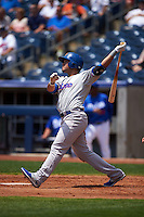 Midland RockHounds third baseman Renato Nunez (34) at bat during a game against the Tulsa Drillers on June 3, 2015 at Oneok Field in Tulsa, Oklahoma.  Midland defeated Tulsa 5-3.  (Mike Janes/Four Seam Images)