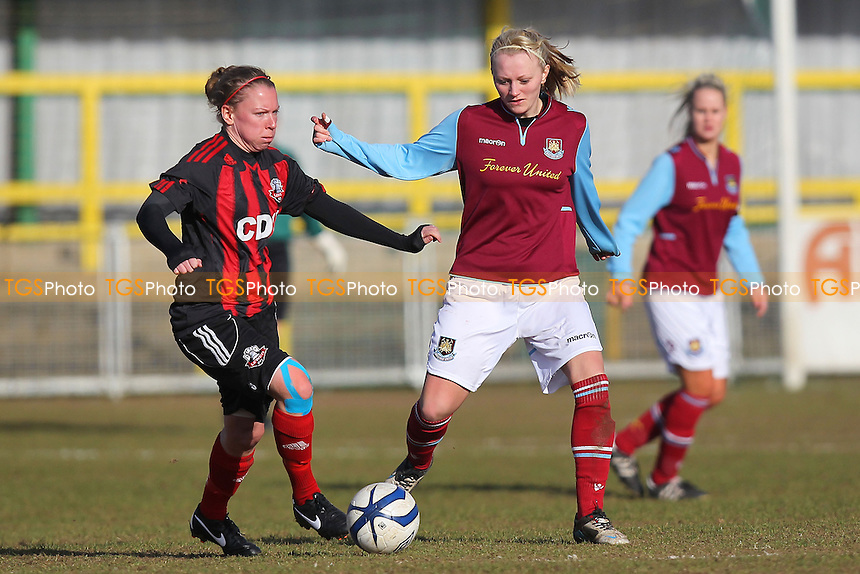 West Ham United Ladies vs Lewes Ladies - FA Womens Premier League Southern Division Football at Ship Lane, Thurrock FC - 03/03/13 - MANDATORY CREDIT: Gavin Ellis/TGSPHOTO - Self billing applies where appropriate - 0845 094 6026 - contact@tgsphoto.co.uk - NO UNPAID USE.