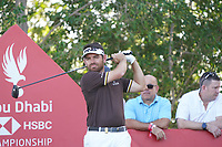 Louis Oosthuizen (RSA) on the 17th tee during Round 3 of the Abu Dhabi HSBC Championship at the Abu Dhabi Golf Club, Abu Dhabi, United Arab Emirates. 18/01/2020<br /> Picture: Golffile | Thos Caffrey<br /> <br /> <br /> All photo usage must carry mandatory copyright credit (© Golffile | Thos Caffrey)