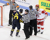 Francois Ouimet (Merrimack - 21), Kevin Shattenkirk (BU - 3) - The Boston University Terriers defeated the Merrimack College Warriors 6-4 on Saturday, November 14, 2009, at Agganis Arena in Boston, Massachusetts.