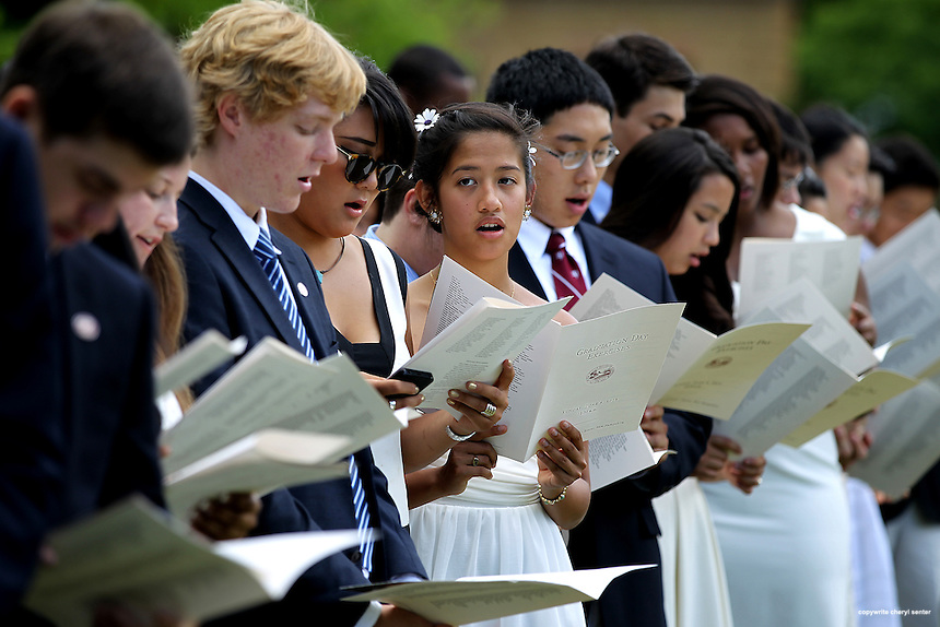 Phillips Exeter graduation in Exeter, N.H., Sunday, June 9, 2013.  (Cheryl Senter for Phillips  Exeter Academy)