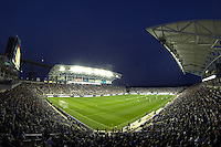 A general view of PPL Park during first half action. The Philadelphia Union defeated D. C. United 2-0 during a Major League Soccer (MLS) match at PPL Park in Chester, PA, on August 10, 2013.