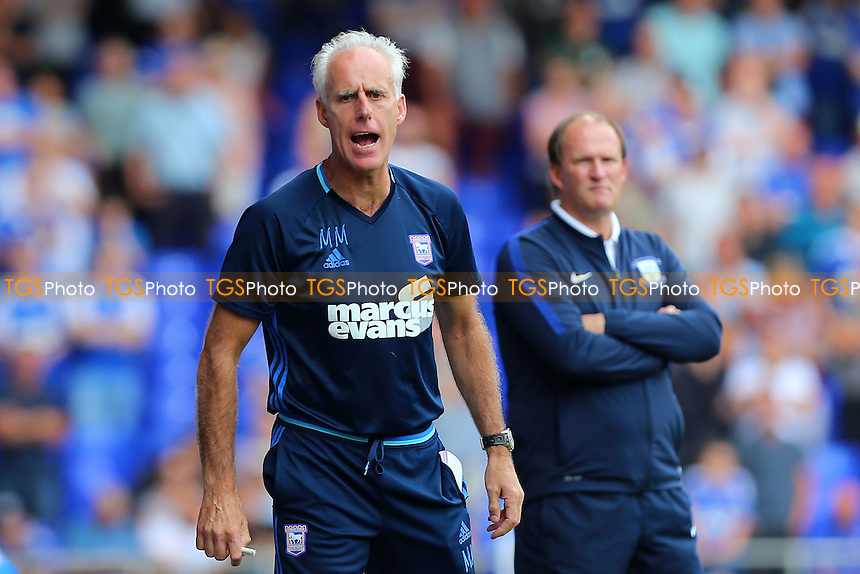 Ipswich Town manager Mick McCarthy during Ipswich Town vs Preston North End, Sky Bet EFL Championship Football at Portman Road on 27th August 2016