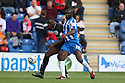 Lucas Akins of Stevenage and Jabo Ibehre of Colchester compete. Colchester United v Stevenage - npower League 1 - Weston Homes Community Stadium, Colchester - 13th October, 2012. © Kevin Coleman 2012