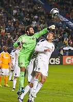 CARSON, CA - November 20, 2011: Houston Dynamo goalie Tally Hall (1) during the MLS Cup match between LA Galaxy and Houston Dynamo at the Home Depot Center in Carson, California. Final score LA Galaxy 1, Houston Dynamo 0.