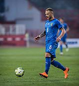 27th March 2018, Karadjorde Stadium, Novi Sad, Serbia; Under 21 International Football Friendly, Serbia U21 versus Italy U21; Federico Di Marco of Italy comes forward with the ball