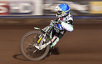 Peter Ljung of Lakeside Hammers - Lakeside Hammers vs Swindon Robins, Elite League Speedway at the Arena Essex Raceway, Purfleet - 03/09/10 - MANDATORY CREDIT: Rob Newell/TGSPHOTO - Self billing applies where appropriate - 0845 094 6026 - contact@tgsphoto.co.uk - NO UNPAID USE.