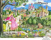 Ingrid, CHILDREN, KINDER, NIÑOS, paintings+++++,USISAS02S,#K#,princess,fairy tale,castle ,vintage